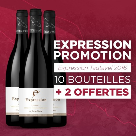 Lot Expession Tautavel - 10 + 2 Bouteilles Offertes