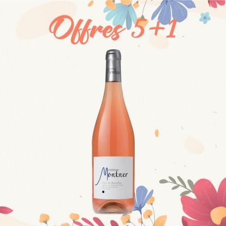 Offres 5+1 Château Montner, rosé - AOP Côtes du Roussillon